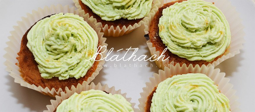 Muffins with Green Topping