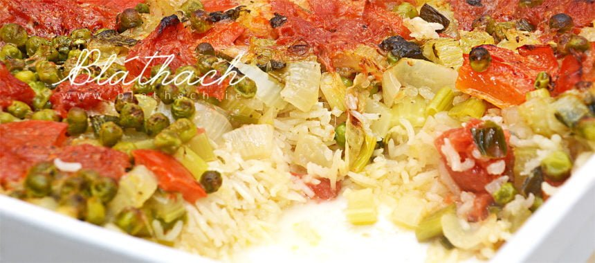 Veggie Coconut Rice Bake
