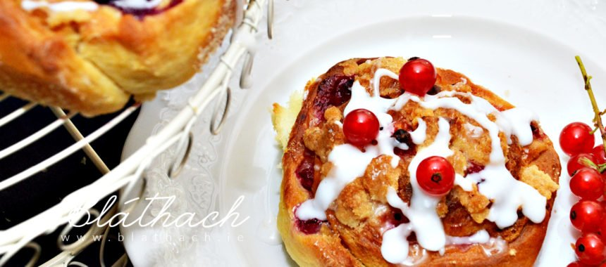 Summer Currant Buns with White Chocolate