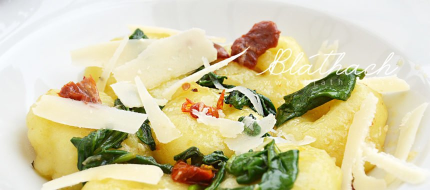 Silesian Dumplings with Spinach