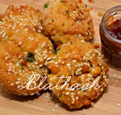 millet and chickpeas patties