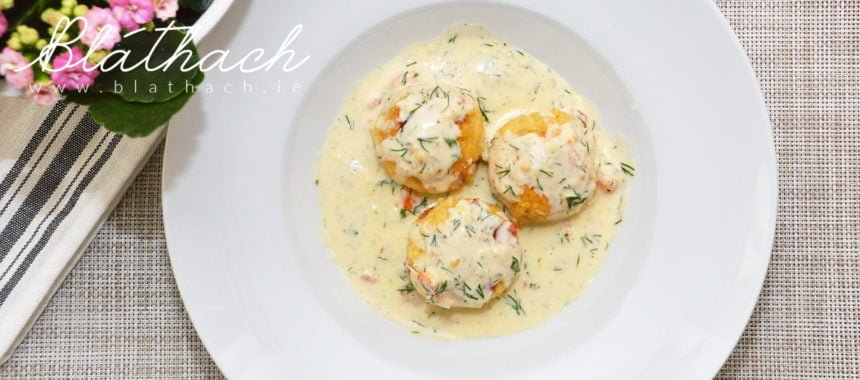 Millet Balls with Lemon Dill Sauce