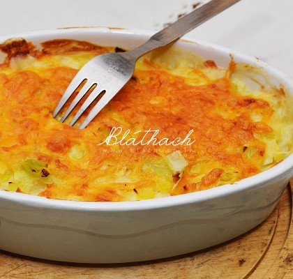 Leek and Fish Pasta Bake