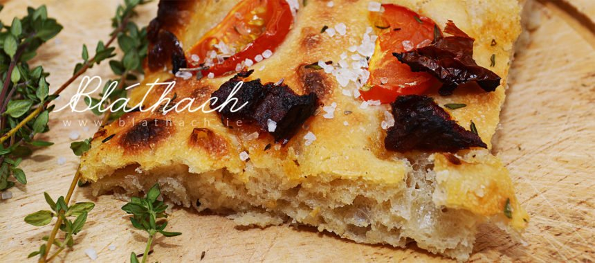 Sourdough Focaccia with Tomatoes