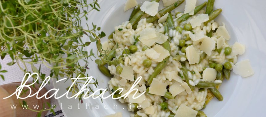 Summer Green Pea and Bean Risotto