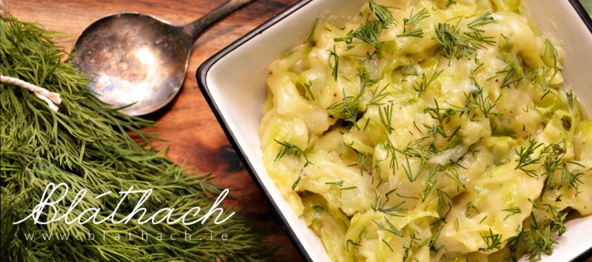 Braised Young Cabbage with Dill
